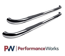 """Westin For 02-06 GMC Envoy E-Series Round Nerf Bars 3""""Polished Stainless 23-2130"""