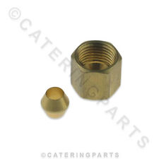 """GL09 PILOT NUT & FERRULE REDUCER FITTING CONVERTS 1/4"""" GAS PILOTS TO 3/16' PIPE"""