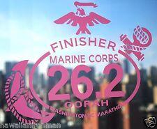 2018 any year Marine Corps Marathon D.C.Finisher Pink Decal iPad,Luggage Car