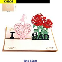 I Love Dad Pop Up 3D Card Paper Greeting Card Father Day Birthday With Envelope