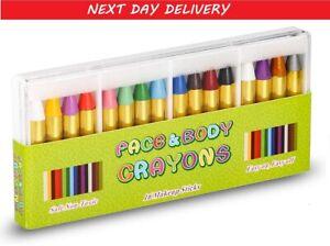 16Pcs Face Paint Kit Body Paint Crayons Kit Non Toxic Easy Remove Makeup Party