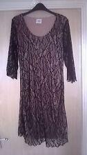 Mama Licious Black Lace Party Maternity Dress size L 12/14