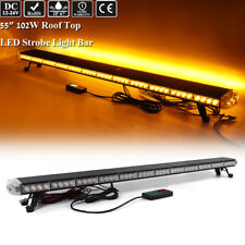 "55"" Led Emergency Warning Tow Truck Wrecker Safety Signal Amber Strobe Light Bar"