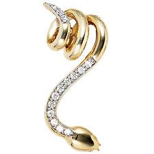 Anhänger Schlange 585 Gold Gelbgold Bicolor 14 diamanten brillanten