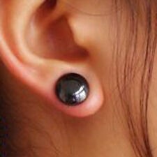 Unisex 12 Mm Healing Magnetic Therapy Stud Earrings: Healing Hematite 4 Pain
