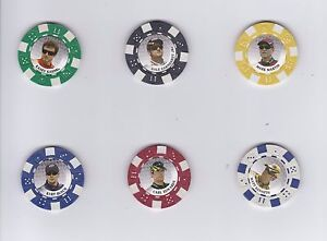 2009 Main Event POKER CHIPS #8 Mark Martin BV$4!!! NEAT COLLECTIBLE!