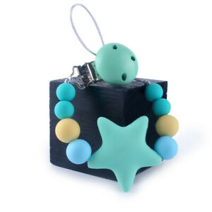 Baby Silicone Teether Pacifier Clip Chain Soother Clip Chew Toy Baby Shower Gift