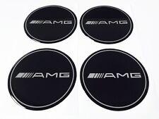 Mercedes Benz AMG schwarz Felgen Aufkleber Nabendeckel Nabenkappen Logo 4x55 mm