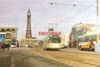 PHOTO  1994 BLACKPOOL TRAM WITH THE TOWER WAS STARTING TO LOOM QUITE LARGE IN TH