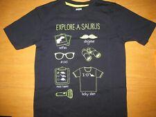 Nwt Gymboree Desert Explorer size 5T Navy Blue Explore-a-saurus Glow Shirt Top