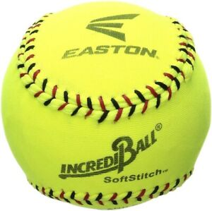 "Easton Softball 12"" Training Soft Stitch Incrediball - Neon Yellow - New"