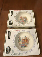 Royal Doulton Bunnykins Nursery Set, Baby Plate And Feeding Spoon