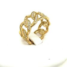 Mens 10kt Cuban Style Ring Yellow Gold