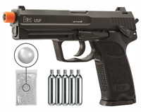 Umarex H&K USP KWC C02 Blowback AirSoft BB Pistol and CO2 Tanks and BBs Bundle