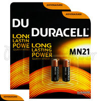 4 x Duracell Alkaline MN21 12V batteries A23 V23GA 3LR50 LRV08 2 in Pack