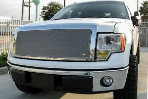 GrillCraft Silver MX-Series Upper & Lower Mesh Grille - FORD F150 XL XLT FX4 FX
