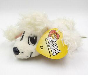 Pound Puppies Plush White Poodle w/ Tag, Mattel 2004 Stuffed Animal