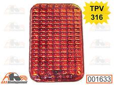 """CATADIOPTRE en verre avec inscriptions """"TPV 316"""" de Citroen 2CV TRACTION  -1633-"""