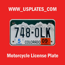COLORADO MOTORCYCLE LICENSE PLATE TAG BIKE HARLEY DAVIDSON CYCLE CURRENT ONE
