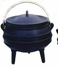 Cauldron Cast iron Potjie pot Sz 3/4 Outdoor Survival Syrup Pot Cookware