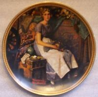 DREAMING IN THE ATTIC - Norman Rockwell Plate