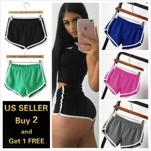 JULYKI Women Summer Casual Satin Shorts Elastic Waist Lounge Pants Beach Shorts with Pockets