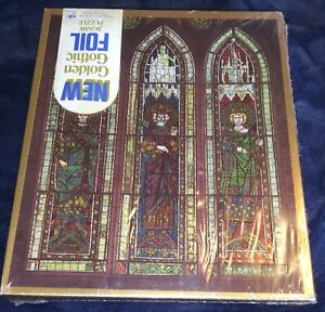 RARE Vintage 1971 Western Publishing Golden Gothic 500 Piece Foil Jigsaw Puzzle