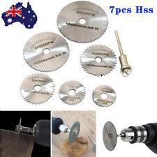 7PCS HSS Circular Saw Disc Set Dremel Mini Drill Rotary Tool Cutting Blade Set