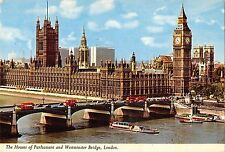 BR92413 double decker bus ship bateaux house of parliament london   uk