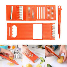 6pcs/set Fruit Vegetable Slicer Nicer Dicer Food Chopper Cutter Peeler Cutter