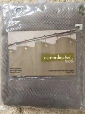 "Park B Smith Eco-ordinates Resort Grey Natural Pique Shower Curtain Cotton 72"""
