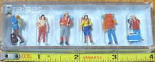 Preiser HO #10113B Recreation & Sports -- Hikers (Plastic Painted Figures) 1:87