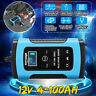 12V 6A Smart Intelligent Car Battery Charger Automobile Motorcycle LCD  e