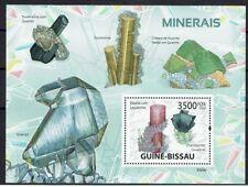 MINERAUX Guinée Bissau 1 bloc de 2009 ** MNH LUXE MINERALS MINERALE