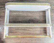 MCM Regency Bathroom Shelf Towel Rack White And Gold