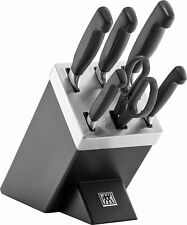 Zwilling Vier Sterne Messerblock Küchenmesser Messer Block 7 teilig schwarz