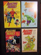 1984 Amazing Heroes #62-65 Lot of 4 Fvf Alan Moore - Mike Zeck - Secret Wars