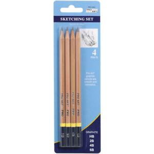 Pro Art Sketching Pencils 4/Pkg-HB, 2B, 4B & 6B