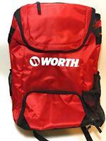 New Red Worth Softball 2 Bat Backpack