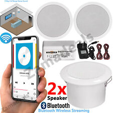 30W Wireless Bluetooth Ceiling Speakers and Amplifier System Bathroom or Kitchen