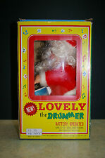 VINTAGE 'LOVELY THE DRUMMER' BATTERY OPERATED SANTA - TAIWAN WITH BOX WORKS