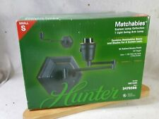 Hunter Matchable Custom Lamp Collection Swing Arm Lamp Oil Rubbed Bronze Finish