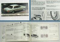 Ford Taunus Limousine Turnier HD Betriebsanleitung Bedienungsanleitung 1977