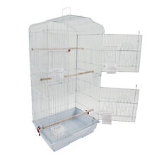 "Bird Cage 37"" Large Finch Parrot Conure Metal Wheels Play Top House Pet Supplies"
