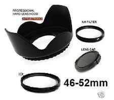 FLOWER HOOD+UV+LENS CAP 46mm Diretly to JVC GZ-HD7 GZ-HD3 MG575 MG555