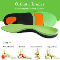 Orthotic Insoles Plantar Fasciitis Arch Support Flat Feet Foot Inserts Gel Pad R