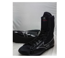 Mizuno Boxing Shoes Mid Black × Black × Silver Made in Japan Bto F/S from Japan