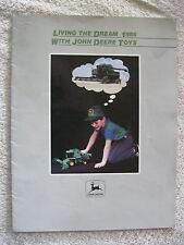 1986 JOHN DEERE LIVING THE DREAM TOYS 16 page BROCHURE