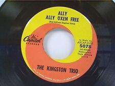 """KINGSTON TRIO """"ALLY ALLY OXEN FREE / MARCELLE VAHINE"""" 45 NEAR MINT"""