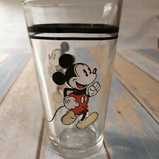 """Mickey Mouse Gibson Vintage Pint Glass 5 3/4"""" Tall drinking"""